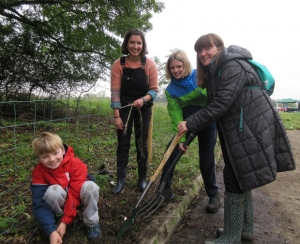 Volunteers kept busy at Totteridge Academy community farm