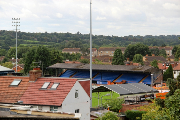 The former Barnet Football Club stadium at Underhill