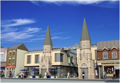 Proposed new-look entrance for The Spires