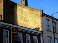 The ghost advert as seen from the pavement