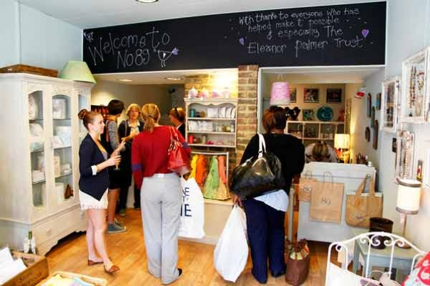 Interior of the new shop at 89 High Street