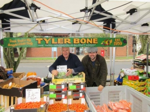 Fourth-generation family pitch at Barnet Market