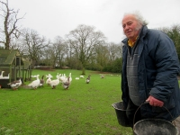 Peter Mason, who will be 80 in April, has run a small holding on farmland at Whalebones since 1962
