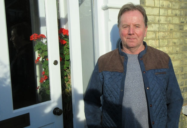Tam Hughes, High Barnet milkman for 32 years, back in Granville Road visiting one of the streets in his former round