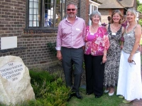 From left to right Robert Colgate, Mrs Jenny Harrold, Mrs Sarah Housden and Ms Heather Colgate