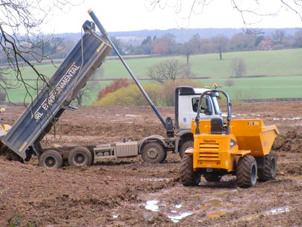 Diggers at work at the Old Ford Manor Golf Club, but are planning conditions being observed?