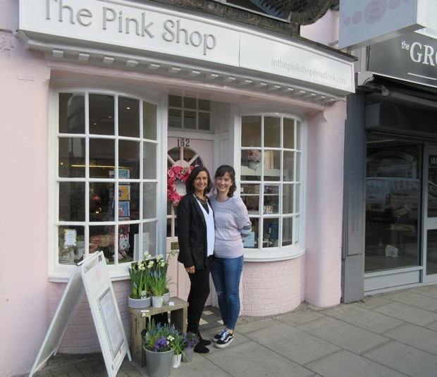 Tracie Murchison (left) and Petra Patrick believe the Pink Shop offers creative businesses a valuable High Street outlet