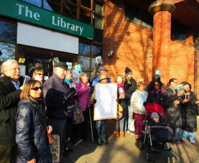 The read in at Chipping Barnet library in the hope of changing the Councils decision to remove this facility