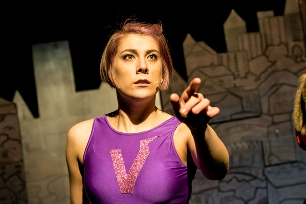 Allie Munro stars as a feminist super hero in Vulvarine, the fifth production of the Fat Rascal theatre company