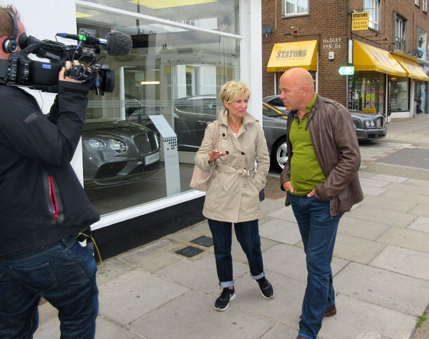 Gail Laser interviewed by Dom Littlewood for his 2016 BBC programme, Dom On the Spot, that featured Barnet's parking