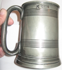 One of the two Victorian measuring jugs