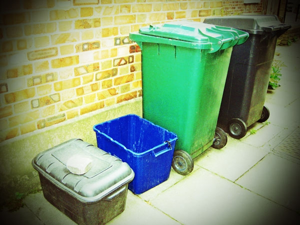 Barnet's multiplying wheelie bins...black, green and now blue