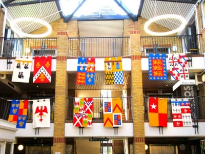 Heraldic banners, already on display in the Spires, will line both sides of Barnet High Street in the lead-up to the Barnet Medieval Festival from June 9-10.