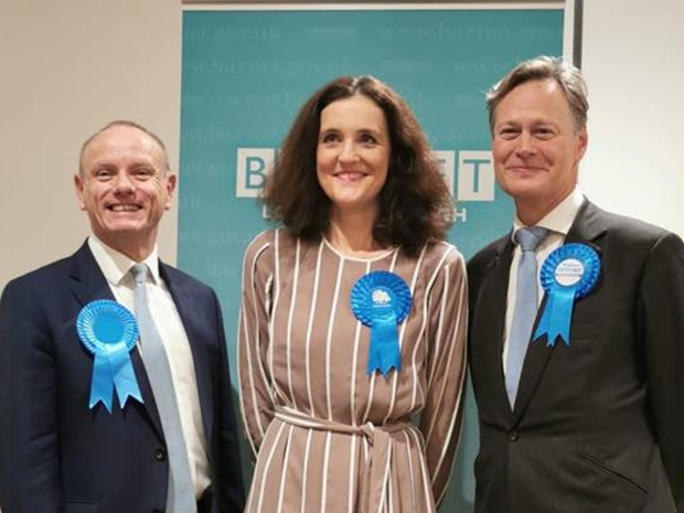 The three re-elected Conservative MPs for the London Borough of Barnet – Mike Freer (Finchley and Golders Green), Theresa Villiers (Chipping Barnet) and Matthew Offord (Hendon)