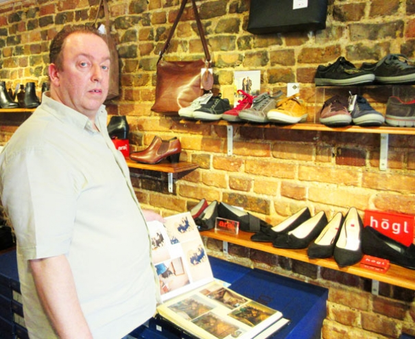 Peter Wanders is celebrating thirty years trading at his shoe shop