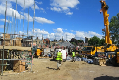 Work is well underway on 25 new flats for older women in Union Street