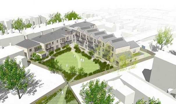 An artist's impression of the new complex of flats for older women