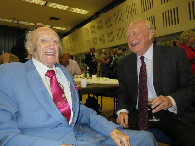 Fred Jarvis (left) celebrating his 93rd birthday with Neil Kinnock