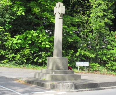 "Arkley war memorial -- ""a simple yet dignified Celtic cross"