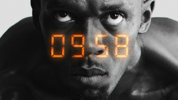 Usain Bolt in the latest Virgin Media advertising