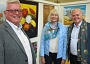 Ken Rowland (left), chairman of Barnet Residents Association; Gillian Griffiths, chairman of the Barnet Guild of Artists; and Councillor David Longstaff