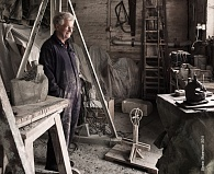 John Brown in his studio