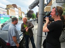Dominic Littlewood, presenter of Dom on the Spot, interviews Dave Williams who had been fined £55