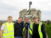 The beacon-lighting team, L to R, Sebastian Evans, Bill Morris, Mathew Lloyd-Winder and Quentin Carruthers